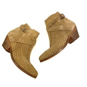 Free People Ventura Woven Ankle Boot Boho Size7